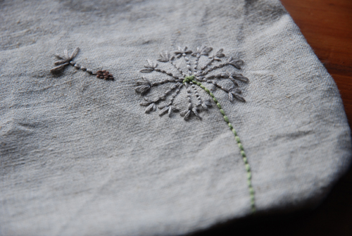 dandelion embroidery